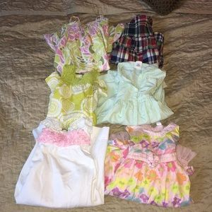 Lot of six 3T and 4T dresses Cherokee Gap OLD NAVY
